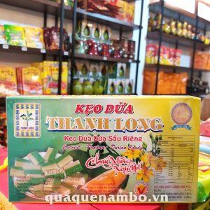 Kẹo dừa dứa sầu riêng thanh long 300g