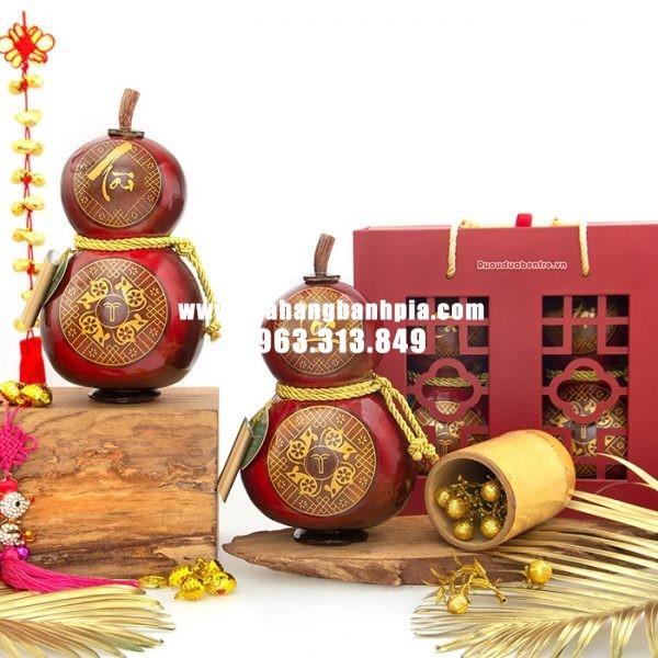 Rượu dừa hồ lô tết Tài Lộc 2020